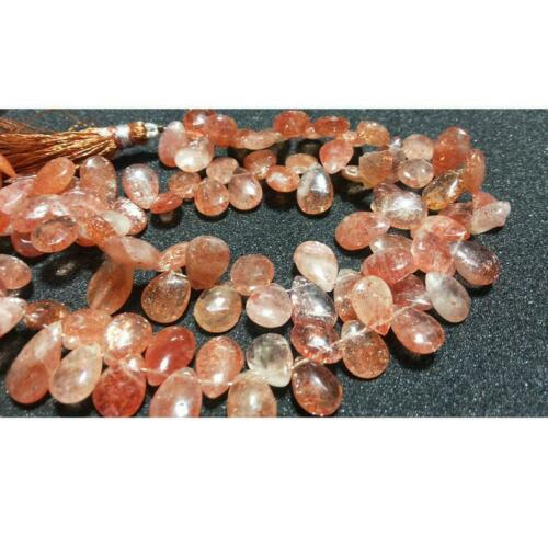Sunstone Pear Beads For Jewelry Details about  /13x10mm Sunstone Faceted Pear Shaped Briolettes