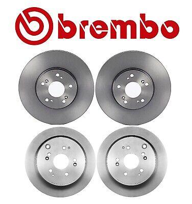 Front+Rear OEM Brembo Brake Rotors with Brake Pads Kit Fits Honda Odyssey 05-10