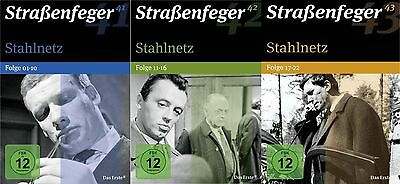 Straßenfeger 41-42-43 . Stahlnetz Folge 1 - 22 - 12 DVD - 3 Boxen - Neu  OVP