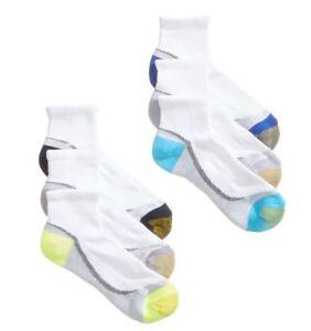 00c1452020b626 Gold Toe Women's 6 Pack Sport Half-Cushion Quarter Socks, 9-11 white ...