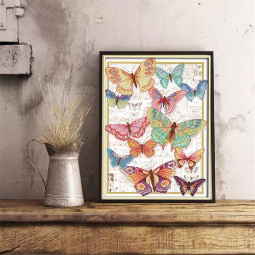 Kreuzstich Stickerei DIY Handarbeit Stickpackung Set Schmetterling für