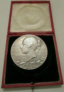 1897 🔹 Grande médaille argent monnaie ancienne voilée jeune reine Victoria #Diamond Jubilee