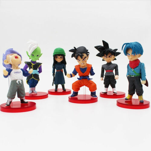 6 Pcs//Set Dragon Ball Super Vol.6 Gohan Goku Black Trunks Mai Zamasu PVC Figure