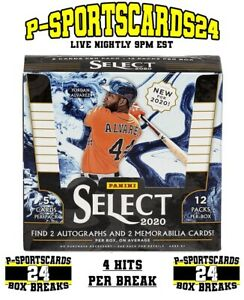2020-PANINI-SELECT-BASEBALL-CARDS-MLB-LIVE-BOX-BREAK-3673-1-RANDOM-TEAM