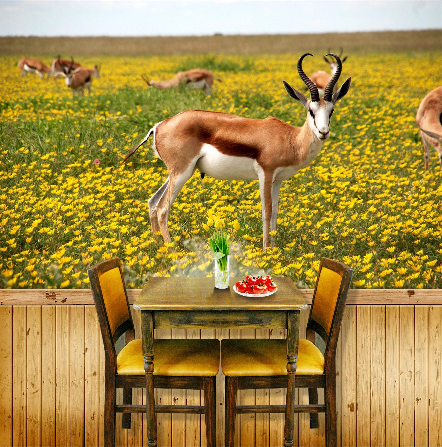 3D Turf Deer 84 Wallpaper Mural Paper Wall Print Wallpaper Murals UK