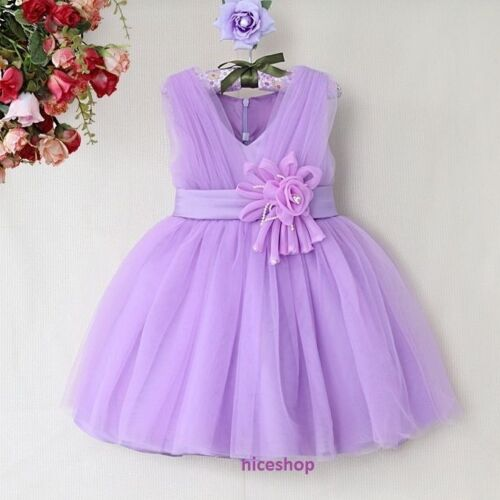 GIRLS FLOWER//Formal//Bridesmaid//Party//Princess//Prom//Wedding//Christening Dress