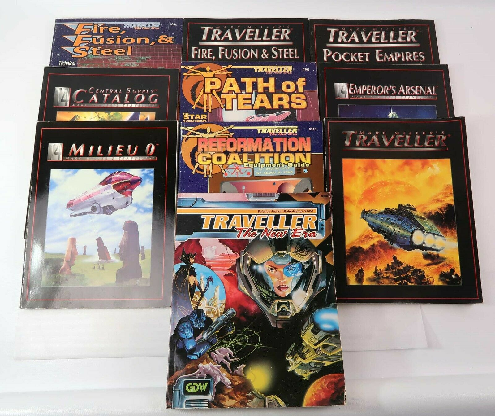HUGE LOT of 10 Traveller GDW   Imperium SC 1980's   '90's All Good Examples Nice