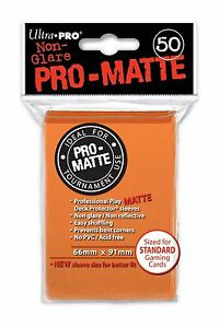 50-ULTRA-PRO-Pro-Matte-Deck-Protector-Card-Sleeves-Magic-Standard-84184-Orange