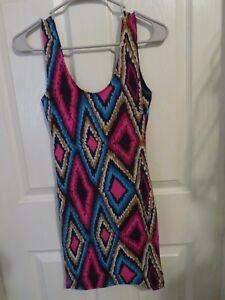 New-Women-s-Papaya-Swoon-Bodycon-Tank-Top-Dress-Adobe-Multi-Color-Size-Small