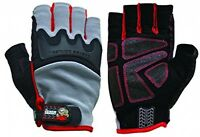 Grease Monkey Pro Fingerless Gloves Safety Grip Work Sport Hand Protection