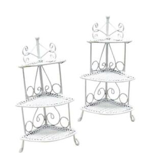 1-12-Doll-House-Furniture-White-Wire-Flower-Stand-3-Tier-Home-DIY-Decor