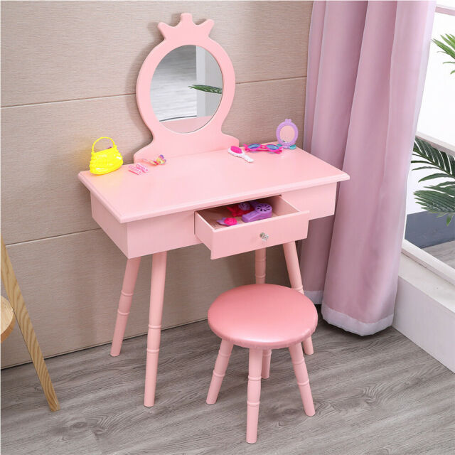 Wildkin Princess Vanity Table Chair Set Light Pink For Sale Online Ebay
