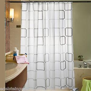 gs 1 duschrollo duschvorhang dusche badewannenvorhang wasserdicht karo 180x180cm ebay. Black Bedroom Furniture Sets. Home Design Ideas