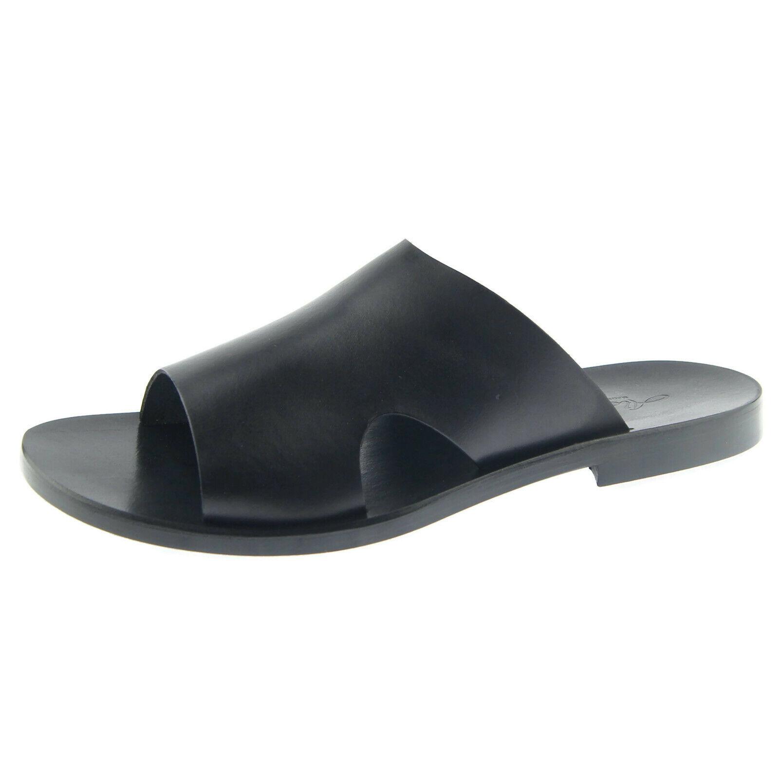 Alex D   Naples   herren Abito Slide Sandali, Bassa in , Made in , schwarz