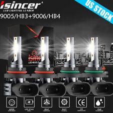 4pcs 90059006 Led Combo Headlight Kit 440w High Amp Low Beam Light Cree Cob Bulbs