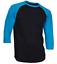 Raglan-Men-039-s-Casual-Baseball-T-Shirt-3-4-Sleeve-Plain-Jersey-Tee-S-2XL thumbnail 3