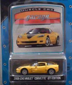 YELLOW 2009 CHEVROLET CORVETTE GT1 GREENLIGHT 1:64 SCALE DIECAST MODEL CAR