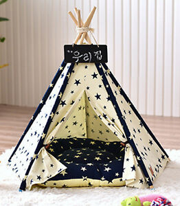 Washable Dogs Kennel Pets Outdoor Removable Tent  Dogs Bed Cat Fashion House M/L