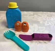 1990 McDonalds Camp McDonaldland Set Canteen Water Bottle Fork Knife Kit Nuggets