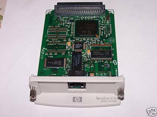 HP JetDirect 615N Ethernet 10100 Print Server J6057A,One Year Warranty