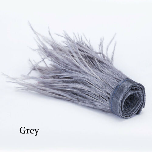 Neotrims Real Ostrich Feather Fur Ribbon Trimming Fringe,Fire Retardant Finish
