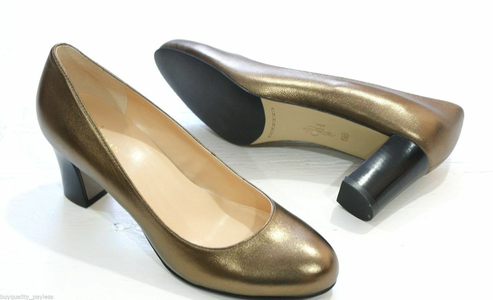 Cole Haan Women's Edie Low Pump gold Metallic Dress shoes shoes shoes 7 NEW IN BOX 3a2dc7