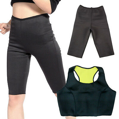 1 TOP E 1 PANTALONE FITNESS HOT SHAPERS PALESTRA NEOTEX PANCIA PIATTA PERDI PESO