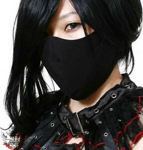 PUNK-Gothic-Rave-Visual-Kei-2-3-Face-Veil-Guard-3D-MASK-2-SIZES-MALE-FEMALE