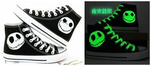 New The Nightmare Before Christmas Jack Skellington personality canvas shoes