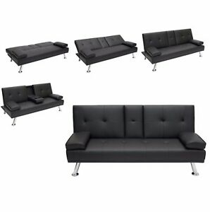 Peachy Details About Entertainment Furniture Futon Sofa Bed Fold Up Down Recliner Couch Cup Holders Short Links Chair Design For Home Short Linksinfo