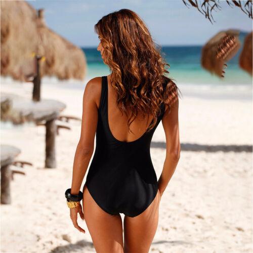 Damen Form-Badeanzug Padded Strandmode Push Up Monokini Stretch Einteiler Bade