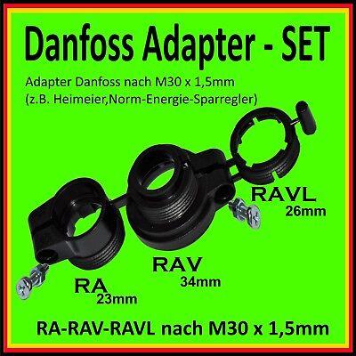 2x Adapter Adapterring f/ür Danfoss Heizk/örperthermostate Heizungsventile RAV