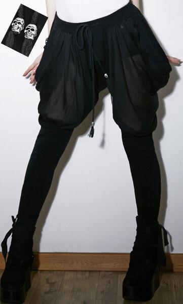 Pantalon sarouel gothique punk lolita voilage fashion mode glamour swag Punkrave