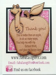 teacher apple message keepsake best thank you gift school end of