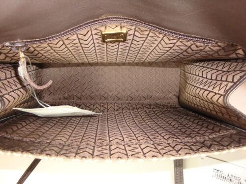 de y en cuero caqui Bolso lona marrón color 595 hombro Mkc Msrp wXt5Wxqq