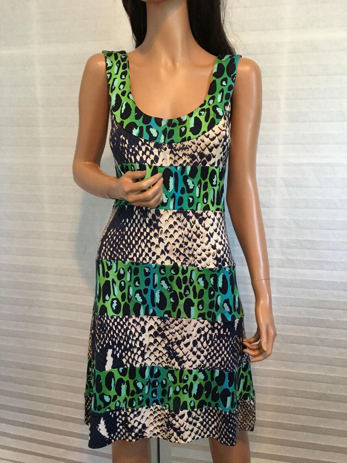 Auth. DIANE Von FURSTENBERG 100% Jersey Silk Animal Print Dress sz 2