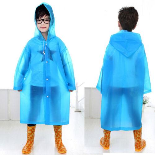 High Quality Kids Rain Coat Clear Waterproof Boy Girl Hat Winter Wear Poncho