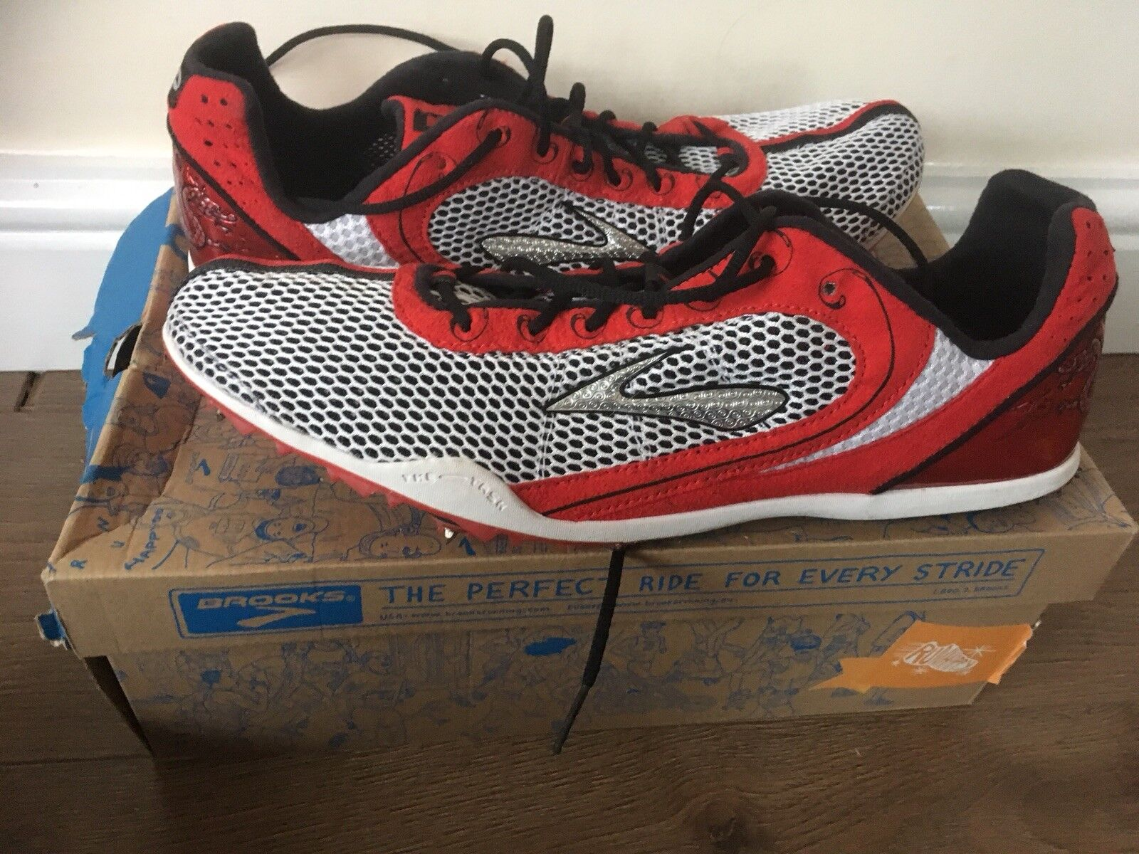 Brooks Wire Distance Track Spikes Spikes Track Trainers- Limited Edition Men's Größe 13 Mint 73f6fd
