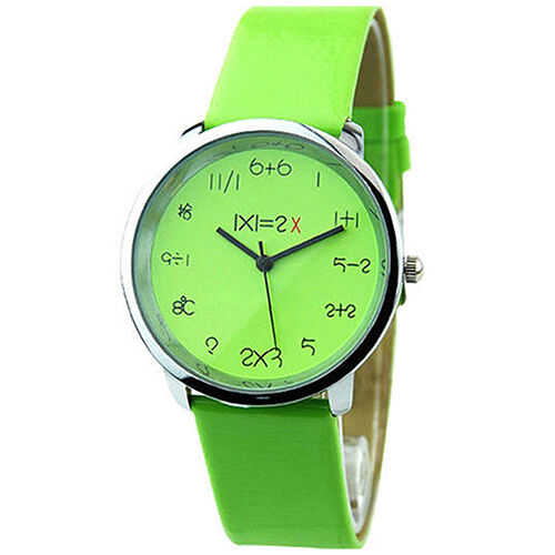 Women's New Pretty Mathematics Dial Ladies Quartz Fashionable Wrist Watch BHAU