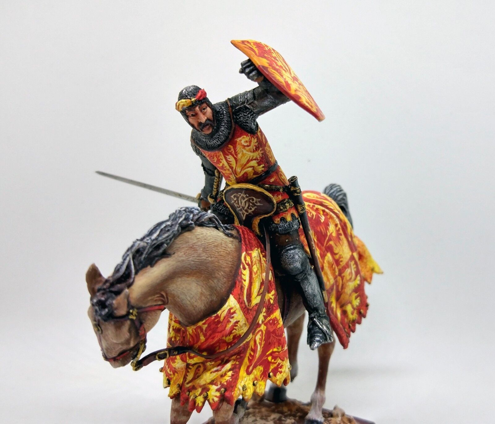 English Horseman (Knight) Top Quality; 54mm Cavalry tin soldier