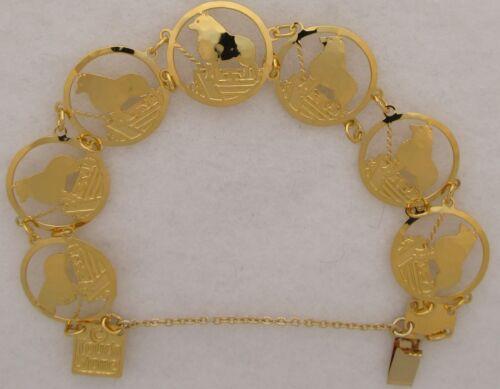 Schipperke Jewelry Gold Bracelet by Touchstone