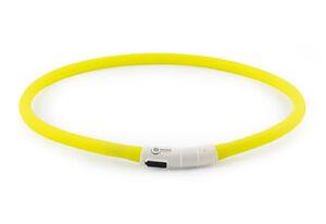 Collier de chien clignotant DEL USB Clignotant Bande Jaune- Bleu- Orange Ancol-afficher le titre d`origine z99rt5Xf-07200723-327337069