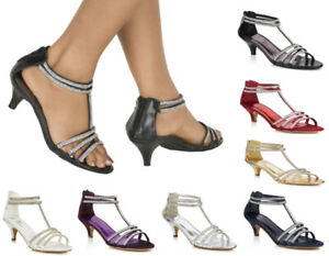 LADIES-DIAMANTE-DETAIL-STRAPPY-LOW-MID-HEEL-PEEP-TOE-SANDALS-SHOES-SIZES-3-8