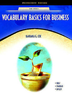 Vocabulary Basics for Business by Cox, Barbara-ExLibrary