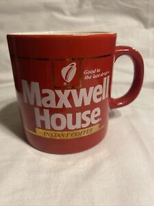 Vintage Maxwell House Coffee Cup Mug Good To The Last Drop Instant Coffee Red