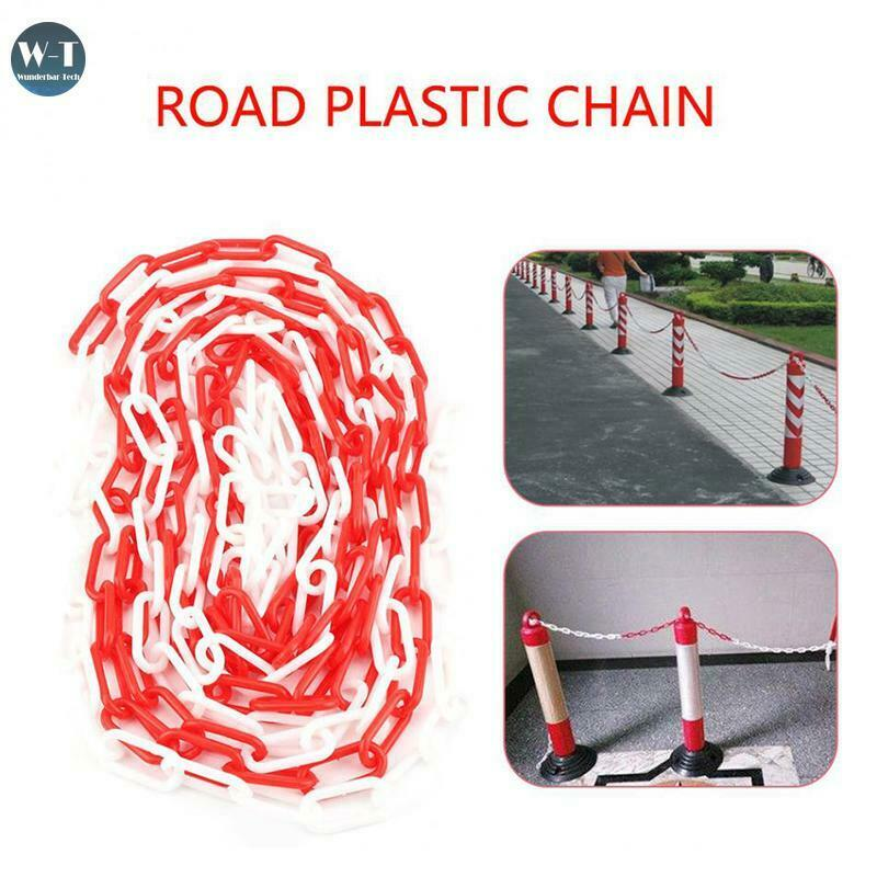 5/10/25M Plastic Chain Links Chain Barrier Warning Safety Road Decorative Block