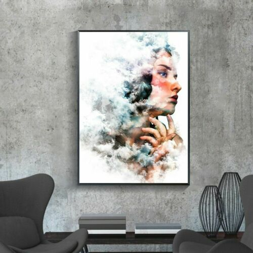 Modern Colorful Poster And Print Woman Wall Art Canvas Painting Figure Pictures