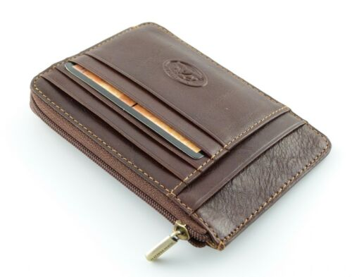Flat Document holder wallet in Leather TONY PEROTTI 2275 Brown