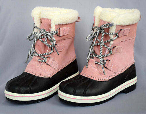 Cat /& Jack Girls/' Rolane Winter Boots Size 13 1 or 3 Suede Fur-Lined Duck Boot