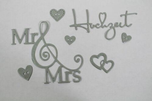 KARTENAUFLEGER  SCRAPBOOKING  BASTELN STANZTEILE  HOCHZEIT  MR /& MRS R 5
